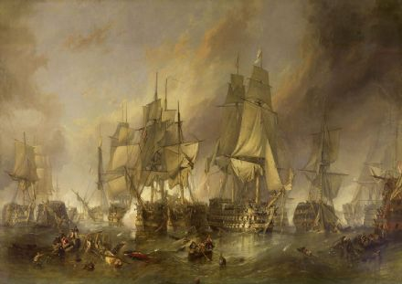 Stanfield, (William) Clarkson Frederick: The Battle of Trafalgar. Fine Art Print.  (00387)